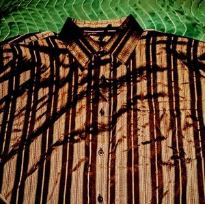 kani gold Shirts - KANI GOLD fancy sparkling brown L buttondown shirt
